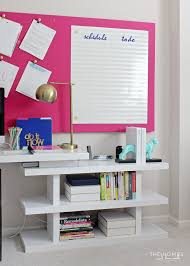 organize home office desk. Check Out This Fresh, Modern And Bold Home Office Full Of Great Organization Solutions Fora Organize Desk