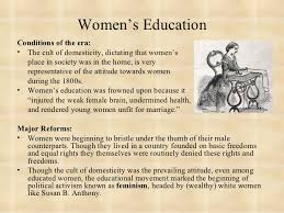 educational reform   6 women s education