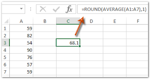 Excel Round Formulas How To Average Range With Rounding In Excel
