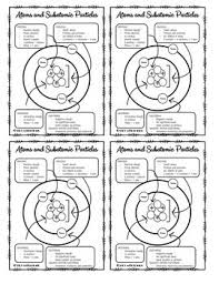 Subatomic Particles Chart Answers Atoms And Subatomic Particles Anchor Chart By Stick With Science