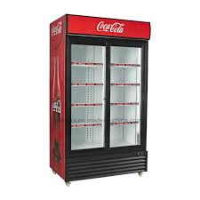 commercial e fridge with glass door