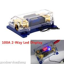 100a 2 way car audio power fuse holder stereo grounding cable 100a 2way fuse block led display car audio power electrical grounding cable