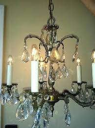 5 arm brass chandelier vintage brass and crystal chandelier vintage brass crystal chandelier 5 arm vintage