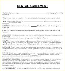 Rental Lease Letters Rental Agreement Letter Free Agreements Template Apartment Sample