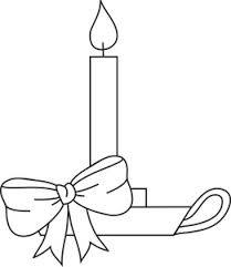Small Picture Free Coloring Pages Clipart Image Christmas Candle Coloring Page