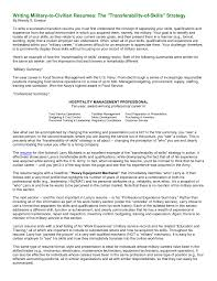 Military Transition Resume Samples Prime To Civilian Peppapp