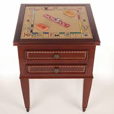 Wooden Monopoly Board Game 10000 N 100 Accent End Table Includes Monopoly Scrabble Checkers 30