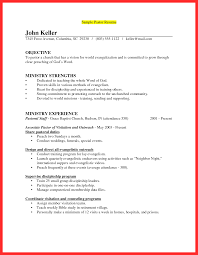 Ministry Resume Youth Resume Sample Good Resume Format 50