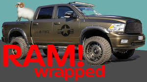 Dodge RAM V8 Wrapped Matte Army Style Teaser with Exhaust Motorsound -  YouTube