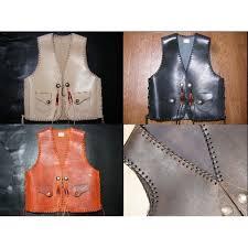 leathercraft pattern 5 sizes vest pattern leather tooling pattern leather clothes pattern