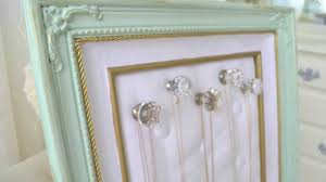 Jewelry Organizer Diy Diy Thrift Store Frame To Jewelry Organizer Youtube
