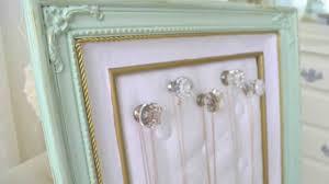 diy thrift frame to jewelry organizer