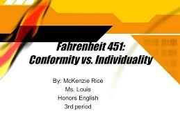 conformity vs individuality