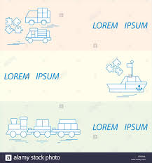 Designer Boat Vector Illustration Kids Toys Objects Train Puzzle