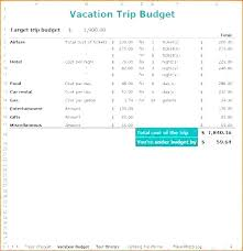 Trip Planner Calculator Travel Itinerary Template Unique Excel Family Vacation