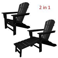 great polywood adirondack chair liegestuhl mit fussteil schwarz casa with black chairs remodel black adirondack chairs55
