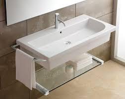 wall mount bathroom sink with towel bar