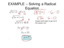 3 example solving a radical equation 2 2 square both sides to get rid of the square root