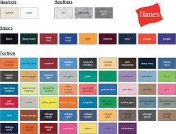 Jerzees Color Chart 13 Jerzees Color Chart Jerzees T Shirts Color Chart