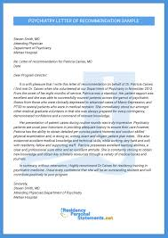 nurse anesthesia letter of recommendation example professional psychiatry letter of recommendation sample