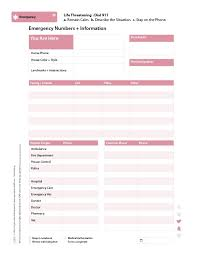 emergency contact template emergency number list template eliolera com