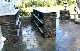 patio ideas medium size outdoor stone bar covered with fireplace designs kitchen stone patio