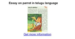 essay on parrot in telugu language google docs