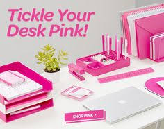 pink office decor. tickle your desk pink workhappy office decor