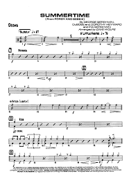 drums sheet music summertime from porgy and bess drums sheet music for piano and