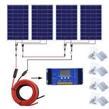 100W 200W 300W 400W 500W <b>Solar Panel</b> System battery charge ...