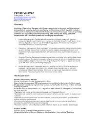 Shipping Logistics Manager Resume Contegri Com