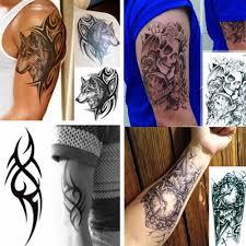 водонепроницаемый разрабатывает временные татуировки 3d черная