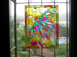 how to paint glass suncatchers
