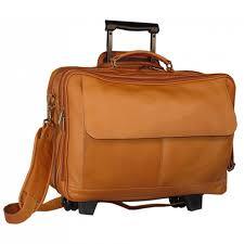 the rolling briefcase tan