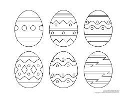 Easter Template Printable Easter Egg Templates