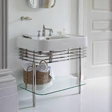 arcade 900mm basin with wash stand glass shelf