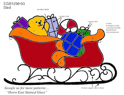 featured stained glass pattern santa s sled sponsored by down east stained glass patterns