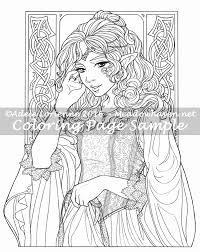 Art Of Meadowhaven Coloring Page Princess By Saimain On Deviantart