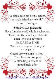 Wedding Invitation Quotes New Rose Wedding Invitation Wording Examples