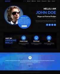 Resume Website Bateaux Minimal Vcardemplate Personnal Branding
