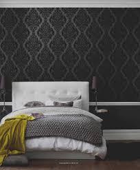 Schwarz Weiß Tapete Schlafzimmer Haus Ideen