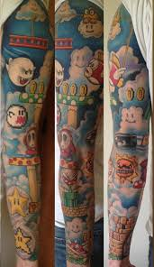 Super Mario Sleeve By Jarrett Spaeth Super Mario Bros World
