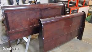 Headboard To Bench Make A Bench From An Old Sleigh Bed Headboard Shabby Diy