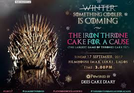life size iron throne introducing the largest got cake yet guardian life the guardian