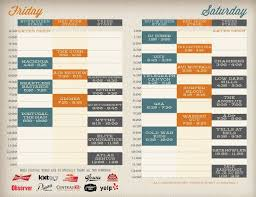Graphic Design Timetable Stage Schedule Design Google Search Schedule Design