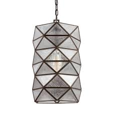 w 1 light heirloom bronze indoor pendant