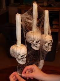 DIY: Spooky Halloween Candelabra. | Halloween Division of The Garden Gnome  inc. | Pinterest | Spooky halloween, Halloween clothes and Halloween stuff