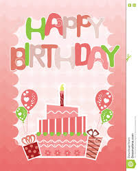happy birthday pink and green pink happy birthday card for girls stock vector illustration of