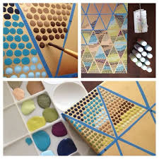19 you can create patterns by using tape as guidelines