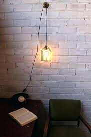 plug in pendant lamp light cord inline switch and wall with round cage shade plug in pendant